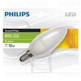 Philips accent white 2Watt (10Watt)  LED kaars lamp mat warm wit E14 (kleine fitting)_