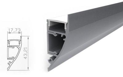 Tronix Flextape Channel  Aluminium led strip profiel 2 meter  Wall Light Surface