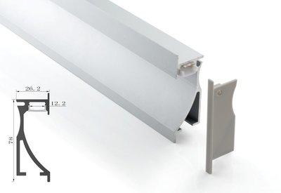 Tronix Flextape Channel  Aluminium led strip profiel  2 meter Wall Light Recessed