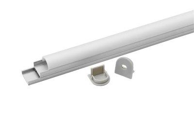 Tronix Flextape Channel Aluminium profiel 2 meter midi round frosted cover ledstrip profiel