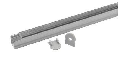 Tronix Flextape Channel Aluminium profiel 2 meter small round clear cover ledstrip profiel