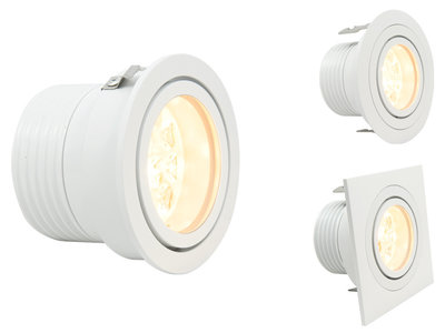 CLS Luxo 3 inzetmodule Wit 8W LED inbouw spot