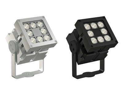 CLS REVO Modular Zwart of Blank Geadoniseerd Aluminium Buiten LED Spot