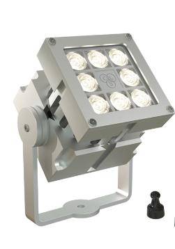 REVO Basic Magno Blank geadoniseerd aluminum LED spot buiten armatuur speciaal dimbaar