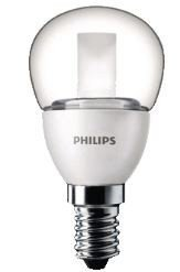 Philips LED kogel helder 4W (25W) E14(kleine fitting) warm wit led lamp