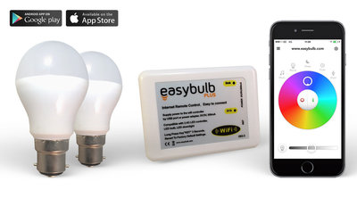 2 Easybulb RGBW  6W WiFi LED lamp  and 1 Wifi Box   2 Years Warranty