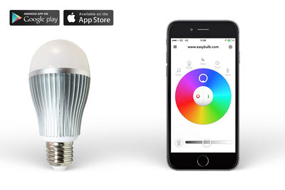 Easybulb RGBW 9W WiFi LED lamp LED Light Bulb - iPhone and Android Controlled