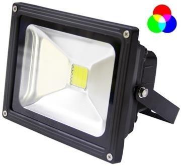 Tronix LEDFloodlight  20W  RGB LED incl afstandsbediening