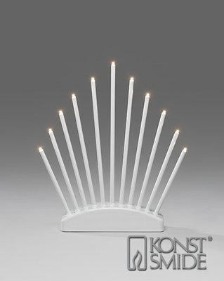 Konstsmide LED Kandelaar Metaal Wit 11 Warm Witte LED Kerst Verlichting