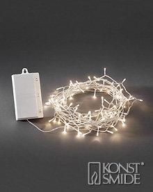 Konstsmide Licht Set met 128 Warm Witte LEDs Transparante Kabel en Timer op Batterijen IP44