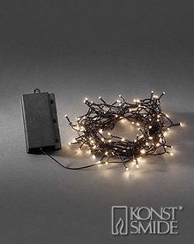Konstsmide Licht Set met 240 Warm Witte LEDs Zwarte Kabel en Timer op Batterijen IP44