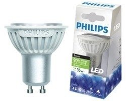 Philips Econic LED LAMP spot GU10 3Watt (35Watt) warm wit 25°