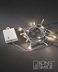 Konstsmide Licht Set met 40 Warm Witte LEDs Transparante Kabel en Timer op Batterijen IP44
