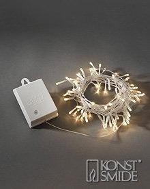 Konstsmide Licht Set 80 Warm Witte LEDs Transparante Kabel met Timer en Schemersensor op Batterijen IP44