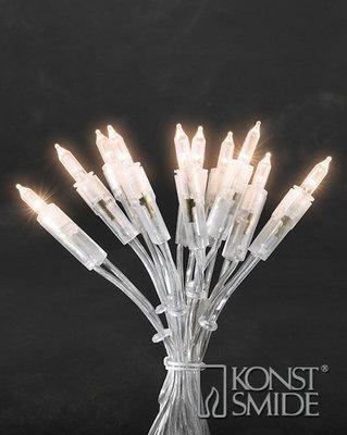 Konstsmide LED Minisnoer Pizello 50 Warm Witte LEDs Transparant Snoer Kerst Verlichting