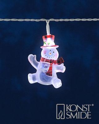 Konstsmide LED Lichtsnoer met 8 Acryl Sneeuwpoppen Frost 8 Koelwitte LEDs