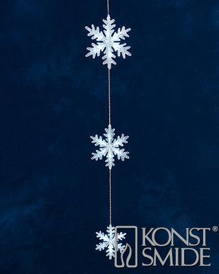 Konstsmide LED Lichtsnoer Hangend met 3 Acryl Sterren 21-18-13cm Totaal 60cm