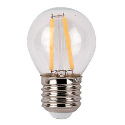Showtec LED Bulb Clear WW filament led lamp kogel 3Watt 2700K