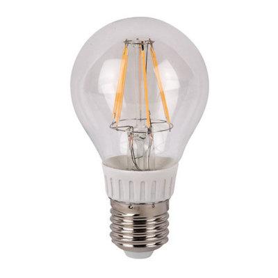 Showtec LED Bulb Clear WW filament led lamp peer 6Watt 2700K dimbaar