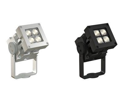 CLS Revo Compact Basic Zwart of Blank Geadoniseerd Aluminium LED Spot Buiten Armatuur