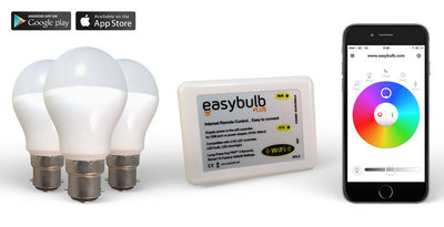 3 Easybulb RGBW 6W WiFi LED lamp and 1 Wifi Box   2 Years Warranty
