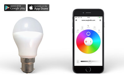 Easybulb RGBW 6W WiFi  LED lamp Light Bulb - iPhone and Android Controlled