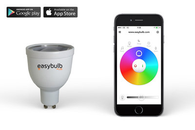 Easybulb GU10 RGBW Spotlight WiFi LED lamp  iPhone iOs Android Controlled Light