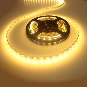 LED strip flexibel enkele kleur 5 Meter warm wit 3000K 12V 4.8W per meter IP20 witte...