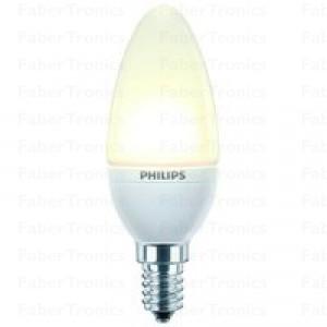 Philips accent white 2Watt (10Watt)  LED kaars lamp mat warm wit E14 (kleine fitting)