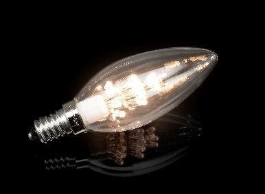 Kaarslamp Helder 0,9W E14 Warm Wit