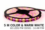 LED-strip-flexibel-multi-colour-warm-wit-RGBW-144-watt-per-meter-IP20-witte-printplaat-pcb